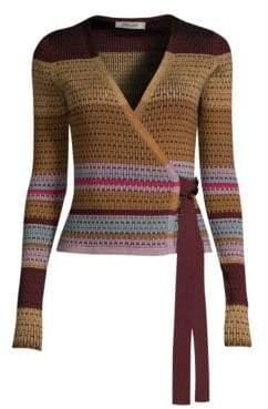 Diane von Furstenberg Stripe Wrap Sweater