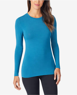 Cuddl Duds Women Softwear Stretch Long Sleeve Crew Shirt