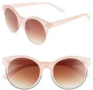 Women's Bp. Key Largo 50Mm Round Sunglasses - Crystal Pink $12 thestylecure.com