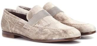 Brunello Cucinelli Velvet slippers