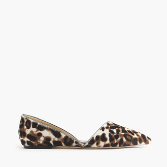 Collection Sloan calf hair d'Orsay flats $268 thestylecure.com