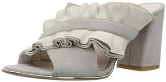 Kenneth Cole New York Women's Laken Ruffled Strap Slide Heeled Sandal