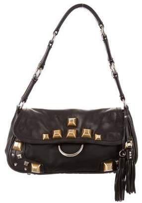 Prada Studded Tessuto & Leather Bag