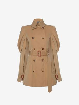 Alexander McQueen Shell Sleeve Trench Coat