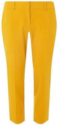 Dorothy Perkins Womens Petite Ochre 'Naples' Ankle Grazer Trousers