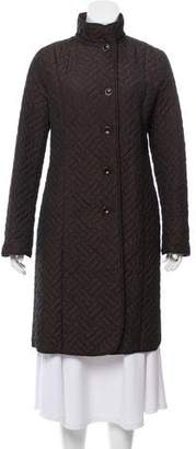 Max Mara Quilted Button-Up Coat