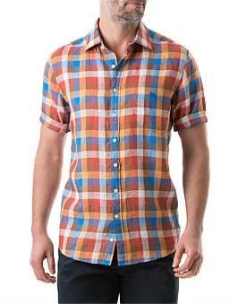 Rodd & Gunn Carrick Short Sleeve Shirt Ochre