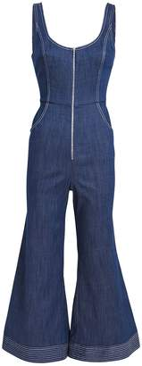 Alexis Bristol Chambray Flared Jumpsuit