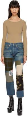 Junya Watanabe Indigo Multi Fabric Patchwork Jeans