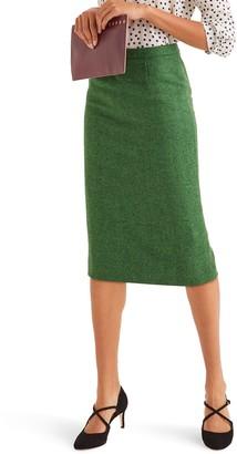 Boden Tweed Pencil Skirt