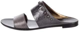 Lanvin Leather Slide Sandals