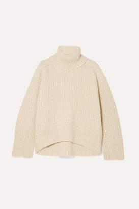 Remain Birger Christensen REMAIN Birger Christensen - Diana Ribbed Wool-blend Turtleneck Sweater - Ecru
