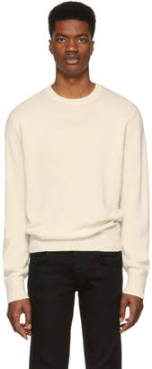 Rag & Bone Off-White Cashmere Haldon Contrast Sweater