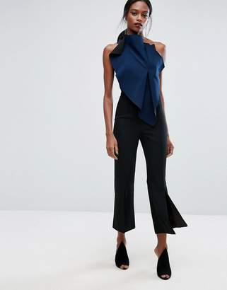 AQ AQ AQ/AQ Cropped Flared Tailored Pants with Front Split $229 thestylecure.com