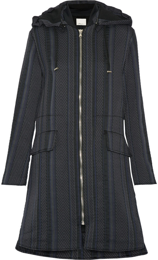 3.1 Phillip Lim 3.1 Phillip Lim Hooded jacquard coat
