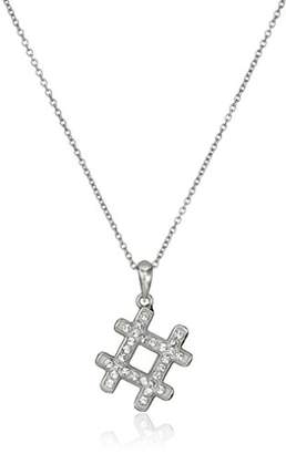 "Swarovski Sterling Silver Clear Crystal""#"" Pendant Necklace"