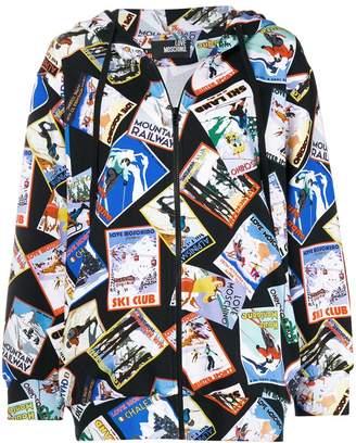 Love Moschino Postcard printed hoodie