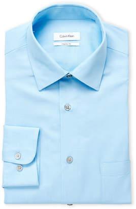 Calvin Klein Blue Ice Regular Fit Dress Shirt