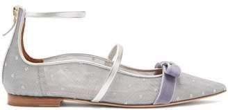 Malone Souliers Monica Luwolt Mesh Flats - Womens - Silver