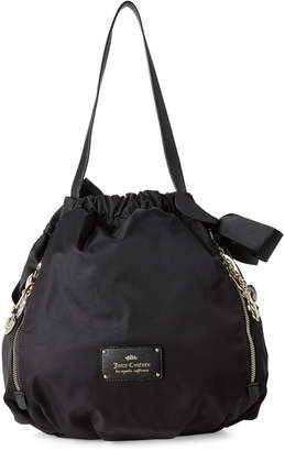 Juicy Couture Black Charmed Life Drawstring Shoulder Bag