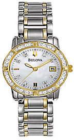 Bulova Ladies 34-Diamond Stainless Steel Bracelet Watch $407 thestylecure.com