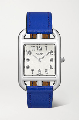 Hermes Timepieces - Cape Cod 23mm Small Stainless Steel And Leather Watch - Silver