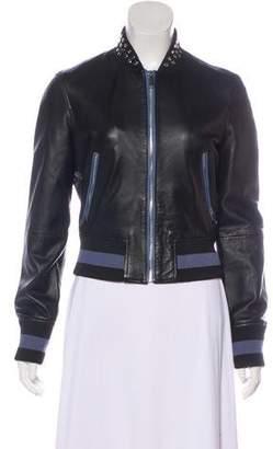 Pinko Bomber Leather Jacket