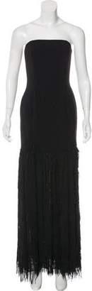 Jay Godfrey Fringe Strapless Gown