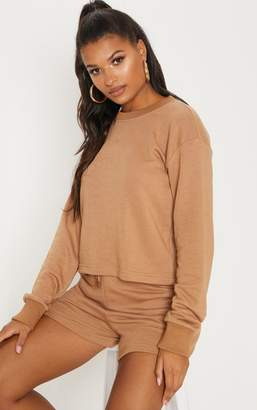 PrettyLittleThing Taupe Oversized Sweat