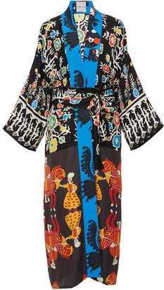 Rianna + Nina Greek Silk Printed Kimono