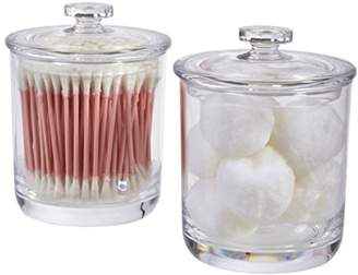clear STORi 15-ounce Premium Quality Plastic Apothecary Jar | 2 Pack