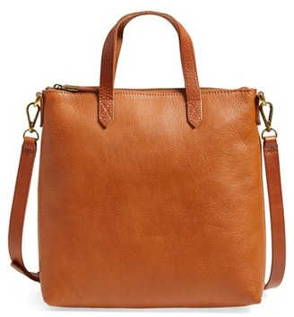 Madewell Mini Transport Leather Crossbody Bag - Brown $148 thestylecure.com