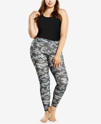 Soffe Curves Plus Size Mesh Inset Leggings