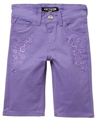 XOXO Embroidered Bermuda Shorts (Big Girls)