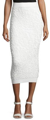 Michael Kors Collection Soutache-Embroidered Midi Skirt, White $995 thestylecure.com