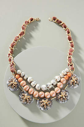 Anthropologie Anne Floral Bib Necklace