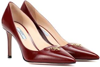 Prada Leather logo pumps