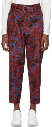 3.1 Phillip Lim Blue Floral Palm Tree Trousers