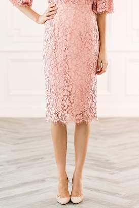 Rachel Parcell Autumn Rose Lace Skirt
