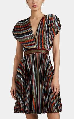 Missoni Women's Pleated Metallic Striped Minidress