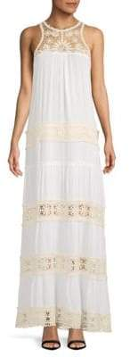 Raga Embroidered Lace-Inserts Maxi Dress