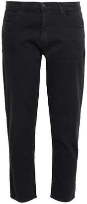 J Brand Cropped Mid-rise Straight-leg Jeans
