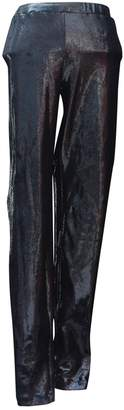 Paco Rabanne Black Spandex Trousers