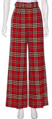 Emilia Wickstead High-Rise Plaid Pants
