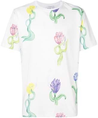 Soulland tulip print T-shirt