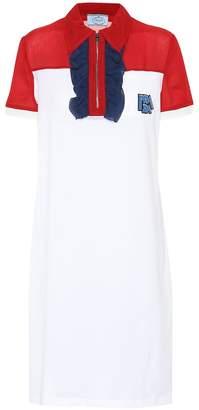 Prada Logo silk shirt dress