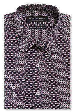 Nick Graham Medallion Button-Down Shirt