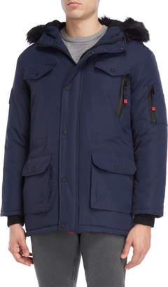 Geographical Norway Alcaline Hooded Fleece Coat