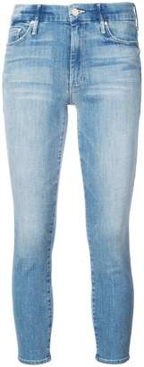Mother washed cropped jeans
