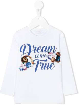 MonnaLisa dream come true print T-shirt